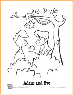 Adam And Eve Coloring Pages New Adam And Eve Garden Of Eden  Free Printable Coloring Page Inspiration Design