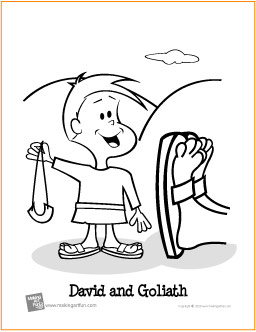 David And Goliath Coloring Pages Adorable David And Goliath  Free Printable Coloring Page Decorating Design