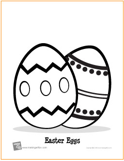 Easter  Coloring Pages on Easter Eggs   Free Printable Coloring Page