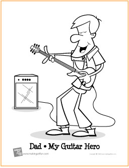 guitar hero coloring pages - photo#3