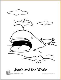 Jonah And The Whale Coloring Pages - Church House Collection