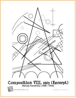 Composition VIII (Kandinsky) | Free Printable Coloring Page