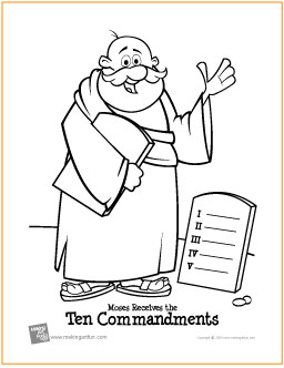 ten commandments free printable coloring page